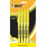 bic brite liner highlighter yellow