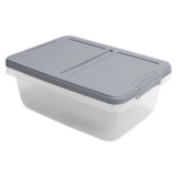 hefty 15 qt. container gray lid