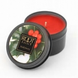 root candle tin holly berry