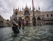 Venice hit by another ferocious high tide, flooding city