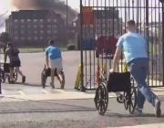 US Marines sprint toward raging fire to help save dozens of senior citizens