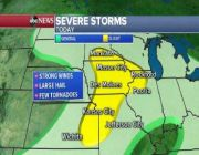 Severe storms move east as tropical threat develops in Gulf of Mexico