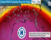 Summerlike Heat Will Set Record-High Temperatures in Parts of the South Into This Weekend