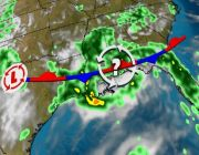 Disturbance Soaking Gulf Coast This Weekend Might Become a Tropical Depression