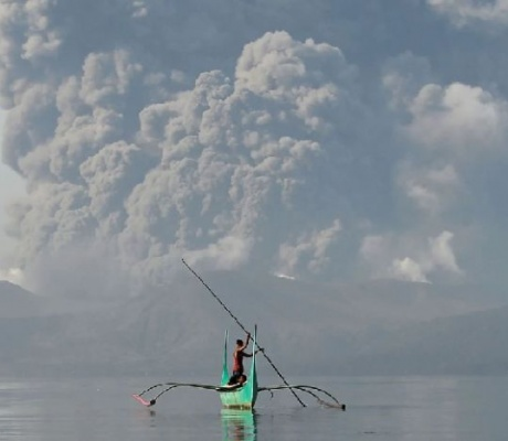 Taal volcano eruption forces thousands to seek safer ground in the Philippines