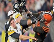 NFL suspends Myles Garrett indefinitely for swinging helmet at quarterback's head